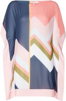 Ted Baker Missisippi colourblock print cover up
