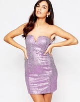 Glamorous Bandeau Dress In Sequins