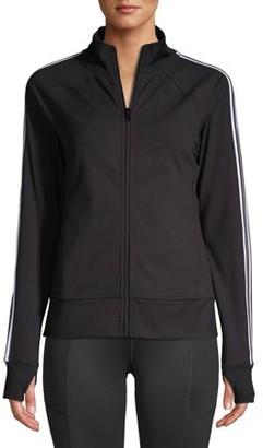 Athletic Works Women's Athleisure Retro Stripe Track Jacket