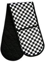 Premier Housewares Check Mate Double Oven Glove - Black/White