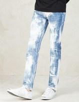 Factotum Blue Bleached Wash Jeans