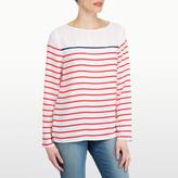 NYDJ Woven Stripe Print Top