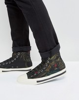 Paul Smith Kirk Hi Top Cockatoo Print Sneakers