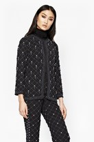 French Connection Pearl Cage Embellished Jacket