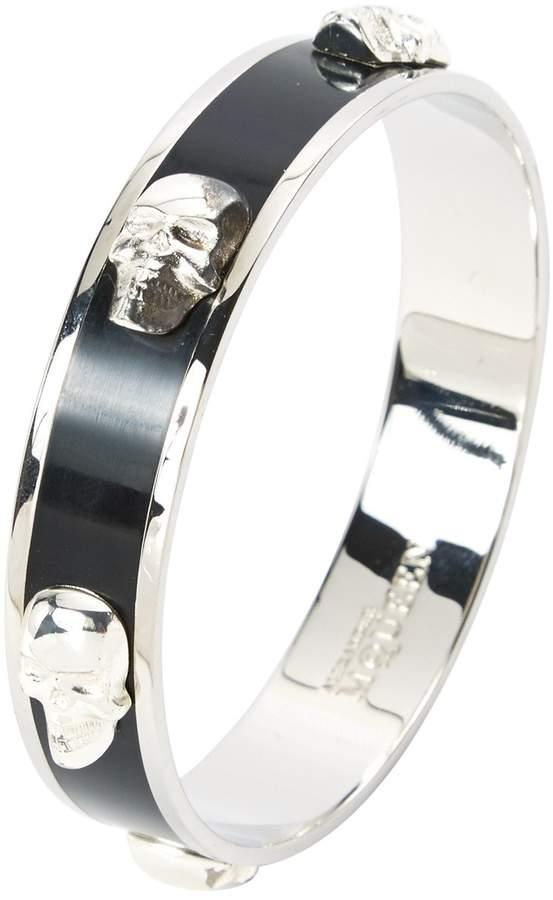 Alexander McQueen Black Metal Bracelets