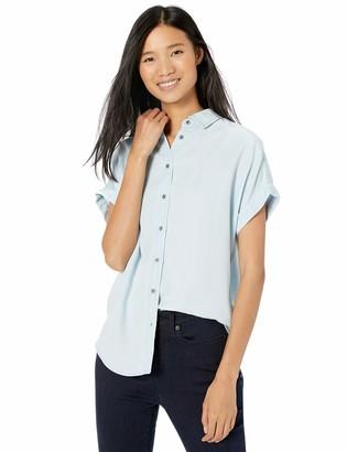 Goodthreads Tencel Short-Sleeve Shirt Bleached Wash XXL