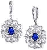 Effy Royale Bleu Sapphire (2 ct. t.w.) and Diamond (4/5 ct. t.w.) Drop Earrings in 14k White Gold