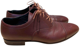 Burberry Burgundy Leather Lace ups
