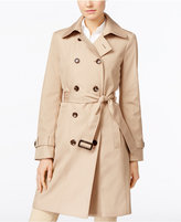 Calvin Klein Double-Breasted Belted Water Resistant Trench Coat