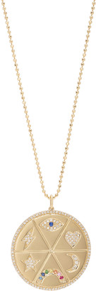 Ef Collection All The Feels 14k Gold and Diamond Pendant Necklace