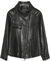 Proenza Schouler Funnel-collar leather jacket