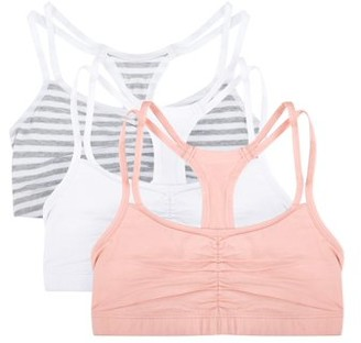 Fruit of the Loom Women's Strappy Sports Bra, 3-Pack