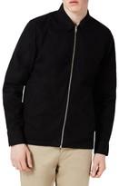 Topman Men's Herringbone Zip Shirt Jacket