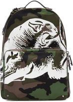 Valentino Green Camo Printed Backpack