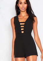 Missy Empire Clarity Black Cut Out Plunge Playsuit