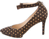 Loeffler Randall Pointed-Toe Ponyhair Pumps