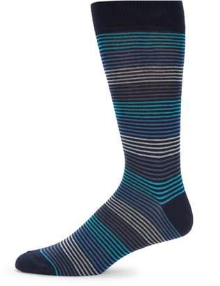 Saks Fifth Avenue Made In Italy Multi Stripe Crew Socks