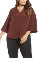 Melissa McCarthy Plus Size Women's Bell Sleeve Blouse