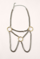 Missguided Silver Ring Detail Layered Necklace