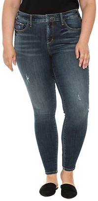 Slink Jeans, Plus Size Mid-Rise Distressed Jeggings