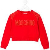Moschino Kids - studded logo sweatshirt - kids - Cotton/Spandex/Elastane - 4 yrs