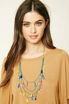 Forever 21 FOREVER 21+ Tassel Charm Layered Necklace