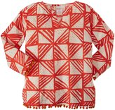 Masala Pom Pom Tunic (Toddler/Kid) - Rivoli Coral-3 Years