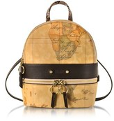Alviero Martini Women's Beige Canvas Backpack.
