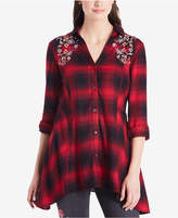 Vintage America Ries Embroidered Plaid Shirt