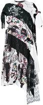 Antonio Marras asymmetric printed panel dress - women - Silk/Cotton/Polyester/Viscose - 44