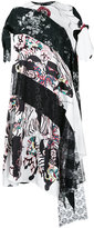 Antonio Marras asymmetric printed panel dress