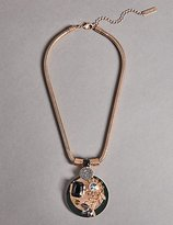 Autograph Diamanté Bloom Shield Pendant Necklace
