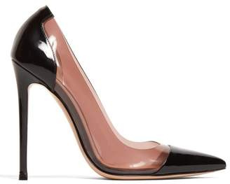 Gianvito Rossi Pvc-panel 105 Patent-leather Pumps - Womens - Black Nude