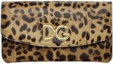 Dolce & Gabbana Brown Leopard Continental Wallet
