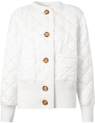 Burberry Diamond Quilted Knit Panel Jacket