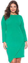 ELOQUII Plus Size Asymmetrical Hem Textured Dress