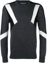 Neil Barrett panelled jumper - men - Wool - XL