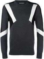 Neil Barrett panelled jumper - men - Wool - XL