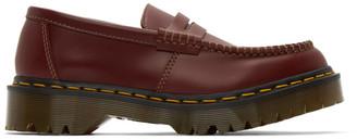 Comme des Garçons Comme des Garçons Burgundy Dr. Martens Edition Made In England Penton Bex Loafers