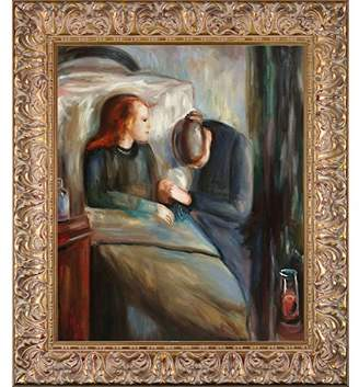 La Pastiche Framed Oil Painting The Sick Child Edvard Munch