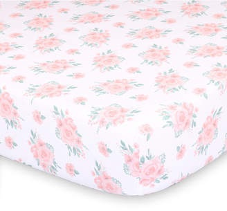 The Peanut Shell The Farmhouse Floral Fitted Crib Sheet Bedding