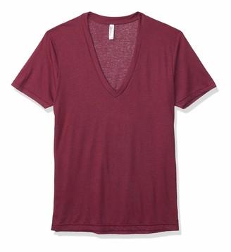 American Apparel Men's Blend Deep V-Neck Short Sleeve T-Shirt