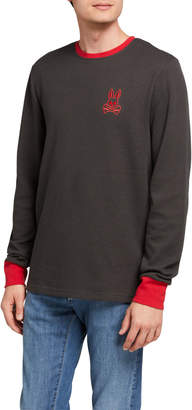 Psycho Bunny Men's Logo Lounge Long-Sleeve Shirt