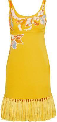 Emilio Pucci Embellished Cady Dress
