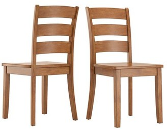 August Grove Alverson Solid Wood Dining Chair Color: Oak