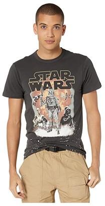 Chaser Star Wars Boba Fett Cotton Crew Neck Tee (Vintage Black) Men's Clothing