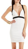 Charlotte Russe Cross-Back Color Block Bodycon Dress