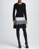 Paule Ka Fit-and-Flare Colorblock Dress
