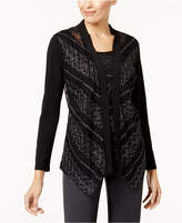 JM Collection Textured Lace Layered-Look Top, Created for Macy's