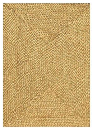 "BEIGE Sai Resources Llc Handwoven and Braided Jute Rug, Beige, 8'x10'6"""